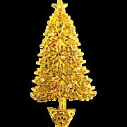Vintage Tancer II Rhinestone Christmas Tree Pin