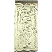 Vintage Taxco Signed Sterling Money Clip- 30.4 Grams