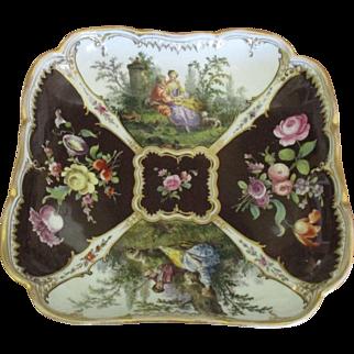 Beautiful Vintage Dresden Porcelain Romantic Couples Bowl