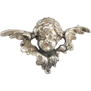 Lovely Vintage Cini Sterling Winged Putti Brooch