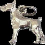 Sterling Boxer Dog Charm