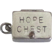 Vintage Sterling Movable Hope Chest Charm with Heart Inside