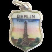 Vintage Colorful Enamel 800 Berlin Germany Travel Shield Charm