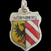 Vintage Nuremberg (Nurnberg) Germany Enamel Sterling Travel Shield Charm
