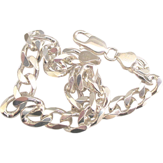 Chunky Italian Sterling Curb Link Bracelet