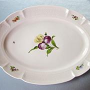 SOLD 19th Century Nymphenburg Antique Bouquet Korb Shape Oval Platter