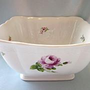 SOLD 19th Century Nymphenburg Antique Bouquet Korb Shape Square Bowl