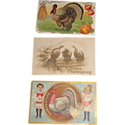 Three Vintage Thanksgiving Cards