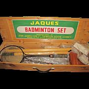 SOLD Jaques Badminton Set