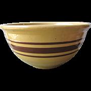 Brown Banded Mixing Bowl