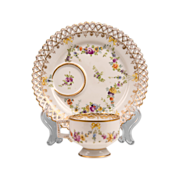 19th C. Dresden Breakfast Cup & Saucer