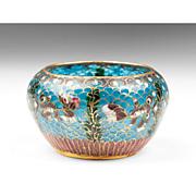 Japanese Plique a Jour Cloisonne Enamel Bowl