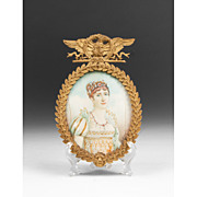 SOLD Early 19th C. Miniature Watercolor Portrait of Josephine Beauharnais Bonaparte