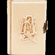 SOLD 1889 Prayer Book, Ivorine Cover, Giardino Di Devozione