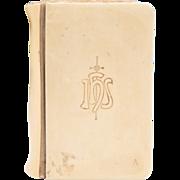 SOLD Key Of Heaven Prayer Book, Ivorine Cover, 1911