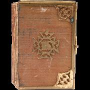 SOLD Small English Book Of Common Prayer, Velvet Cover
