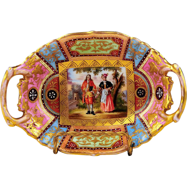 Royal Vienna Bowl With Pierced Handles