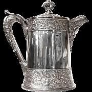 Victorian Webster & Sons Silverplate Hot Water Tankard