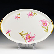 Large Limoges Hand Painted Vanity Tray