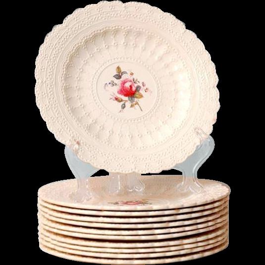 Set of 11 Copeland Spode Jewel Luncheon Plates