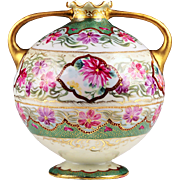 Japanese Hand Enameled Porcelain Vase