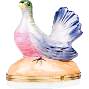 Florance Limoges Hinged Box With Pigeon