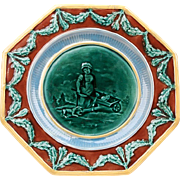 Octagonal Majolica Compote