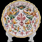 Raffaellesco Style Fratelli Fanciullacci Dinner Plate