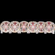 Set of Six Raffaellesco Style Fratelli Fanciullacci Saucers