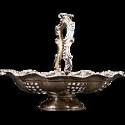 Victorian Silverplate Wedding Basket