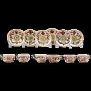 Set Of Six Raffaellesco Style Fratelli Fanciullacci Cups & Saucers