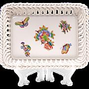 Richard Ginori Square Porcelain Tray, Oriente Pattern