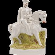 English Staffordshire Figure On Horseback, Lord Kitchener