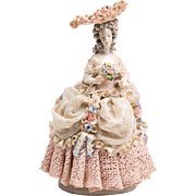 SOLD Vintage Cordey Porcelain Figurine of Lady In Frilly Costume