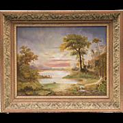 SOLD Vintage Landscape Oil Painting On Board