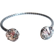 SALE Designs by Ali Antique Silver Plated Brass with Rose Patina and Silver Patina Bracelet