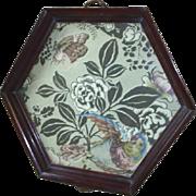 Vintage tray; silk lining, mahogany