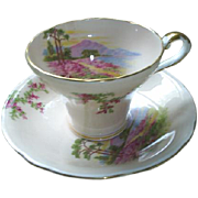 Aynsley scenic cup and saucer