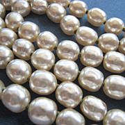 Miriam Haskell Baroque Niki Simulated Pearl Necklace 28 Inches