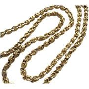 SALE 14K Gold Fancy Link Necklace 18 Inches 12.5 Grams
