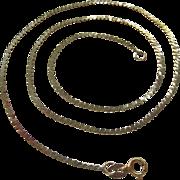 SALE 14K Gold Serpentine Chain Necklace