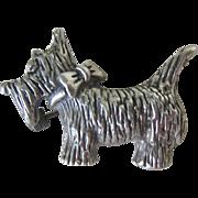 Sterling Silver 925 Terrier Scottie Dog Pin