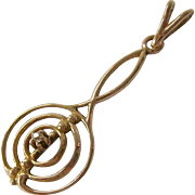 10K Gold Pendant with Tiny Diamond Accent