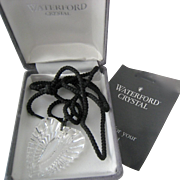 Waterford Crystal Heart Pendant on Cord with 925 Bail Original Box