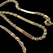 Danecraft Sterling Silver 925 Vermeil Necklace Italy