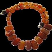 SALE PENDING Luscious Caramel Agate Fringe Style Necklace