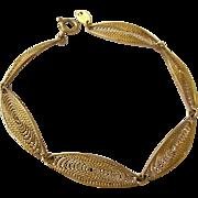 Trifari Gold Tone Filigree Bracelet