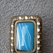 Pretty Victorian Pin / Brooch w/ Colored Glass
