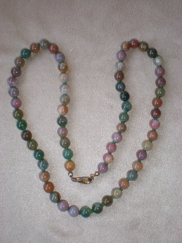Fabulous Multi-Colored Stone Bead Necklace