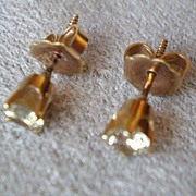 Gorgeous 14k Gold and Diamond Earrings